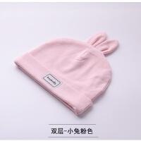 新生儿帽子秋冬0-3个月胎帽初生婴幼儿男女宝宝满月婴儿帽子 均码