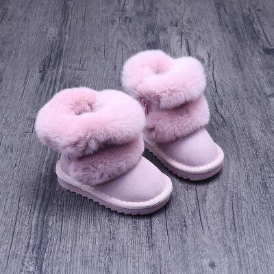 №【2019新款】冬天小朋友穿的儿童短靴宝宝雪地靴子女1-3-6岁秋冬软底中小童棉鞋