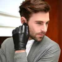 №【2019新款】冬天带的男士头层羊皮手套男士触屏修手贴手驾驶开车内衬真皮手套