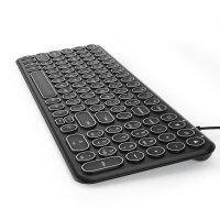 【官方直营】BOW航世复古朋克键盘有线巧克力笔记本台式机电脑外接超薄usb家用办公无线小型鼠标套装女生静音