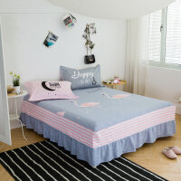 床裙单件床套床罩床垫防滑保护套1.5m/1.8米花边床单裙罩