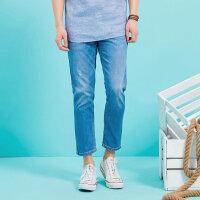 美特斯邦威牛仔裤男士 夏装新款宽松裤子756166商场同款