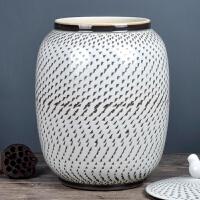 陶瓷器米桶米缸密封20斤30斤家用带盖水缸腌菜杂粮储物罐