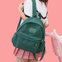 牛津布双肩包女新款大学生书包女高中百搭古着感少女校园背包