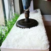 床边地毯小卧室客厅茶几垫白色长毛绒橱窗地毯服装店装饰毛毯 白色 1.6*2.8米
