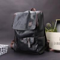 双肩包学生电脑背包男士休闲韩版大容量旅行包时尚运动户外包 黑色