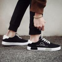 帆布鞋男夏季新款潮鞋学生韩版原宿板鞋ulzzang男鞋子黑色布鞋