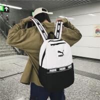PUMA彪马双肩包串标韩版时尚樱花粉色户外背包潮男女学生书包