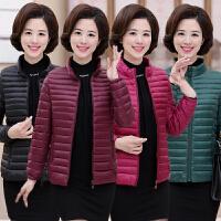 妈妈装棉衣40-50岁冬季女轻便短款中年妇女外套小棉袄秋冬款