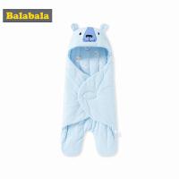 【11.21超品 3折价:71.7】巴拉巴拉婴儿用品保暖睡袋宝宝防踢被2018新款新生儿包被纯棉连帽