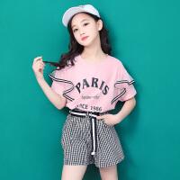 女童夏装新款套装韩版时尚中大童女装两件套