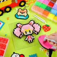 儿童手工创意DIY立体像素拼豆 拼拼豆豆套装女孩成人玩具拼图小豆