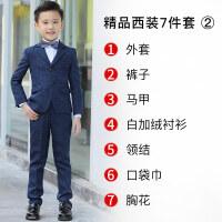 儿童西服男男孩小西装套装花童礼服男童宝宝西装钢琴演出服三件套