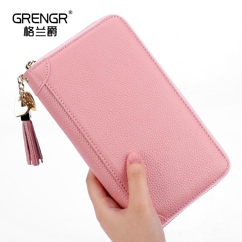 卡包女式多卡位手包大容量真皮卡夹拉链卡套多功能一体钱包防盗刷