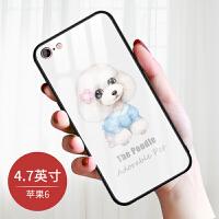 苹果6手机壳女款全包iphone6plus保护套六玻璃防摔6s卡通可爱新款