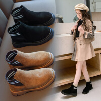 女童短靴2019秋冬新款英伦风儿童单靴时尚弹力男童马丁靴