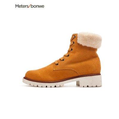 美特斯邦威女鞋新款时装鞋马丁靴休闲鞋潮201606商场同款 S