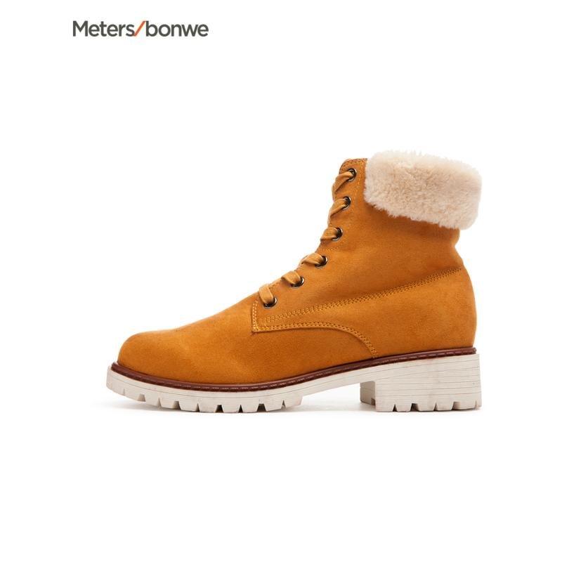 【年货节狂欢购,2件3折到手价:59.7】美特斯邦威女鞋新款时装鞋马丁靴休闲鞋潮201606商场同款 S领券满200再减20