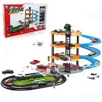 【悦乐朵玩具】儿童早教益智四层拼装轨道车停车场玩具送男孩女孩生日礼物礼品