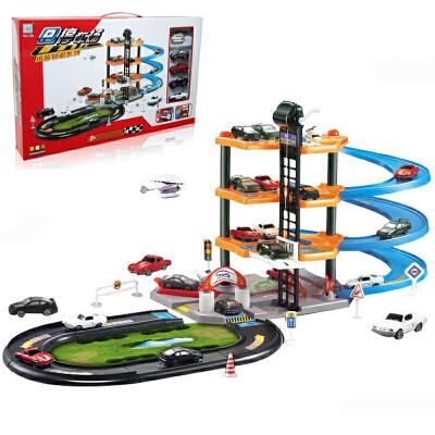 【悦乐朵玩具】儿童早教益智四层拼装轨道车停车场玩具送男孩女孩生日礼物礼品 早教益智玩具总动员