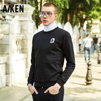 森马旗下Aiken星球大战系列IP男星战达斯维达电影潮流圆领套头卫衣服简约