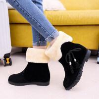 冬季新款韩版雪地靴女鞋短筒加绒保暖平底平跟学生靴子女棉鞋