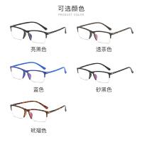 近视眼镜男半框韩版复古可配有度数近视镜成品防辐射平面平光镜女
