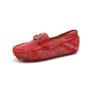 比比我新品新款童鞋2017春秋款女童豆豆鞋女时尚