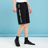 【1件4折到手价:67.6】美特斯邦威休闲裤男新款夏季青少年潮流侧缝拼条针织中裤