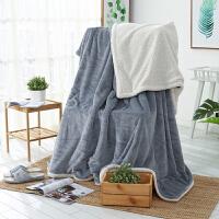 ???羊羔绒毛毯双层珊瑚绒毯子单人被子双面秋冬季床单法兰绒加厚单人