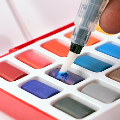 德国辉柏嘉固体水彩颜料初学者学生手绘设计绘画24色36色48色套装