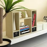 【当当自营】慧乐家实用创意白枫木色双抽桌面收纳书柜FNAL-12253