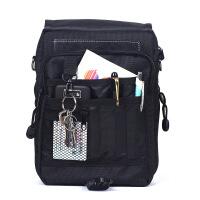 男包单肩包男士包包商务休闲包帆布包斜跨小包背包运动包多口袋 黑色