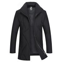2017冬装新款羽绒服男士中长款中年男装冬季棉衣商务加厚保暖外套