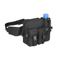 男士腰包跑步手机腰包男女多功能大容量帆布户外装备登山小运动包
