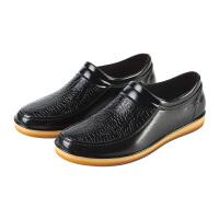 春夏时尚雨鞋男女洗车防水胶鞋低帮仿皮防滑厨房短筒工作水靴 9911黑色 (标准码)