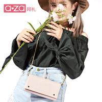 aza阿札夏季女包2017新款 卡通时尚迷你小包链条斜挎包手机包2750