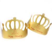 金卡纸生日帽工厂儿童生日帽子生日派对帽皇冠100个