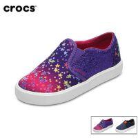 Crocs卡骆驰童鞋都会街头男女儿童帆布平底鞋|204764 都会街头儿童便鞋