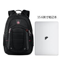 SWISSGEAR瑞士军刀双肩背包商务多功能15.6英寸笔记本电脑包防泼水旅行包男女书包 黑色
