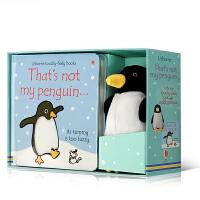 英文原版 That's not my penguin 书+玩偶  Usborne儿童触摸书那不是我的企鹅…毛绒玩具书盒装