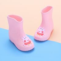 儿童雨鞋宝宝小孩1-5岁中童小童雨鞋女童男童卡通中筒雨靴防滑