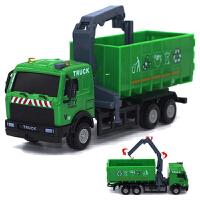 合金工程车模型卡车货车水泥车耐摔仿真玩具汽车自卸运输卡车