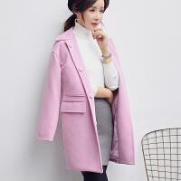 大衣中长款2018韩版冬季新款加厚优雅呢子外套女