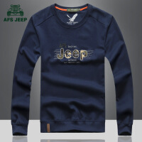 Afs jeep长袖t恤战地吉普春秋新款纯色翻领男士长袖POLO衫T��3868