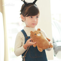 【满400立减200】笛莎女童装2017秋季新款小女孩斜跨包萌趣兔子小熊包包