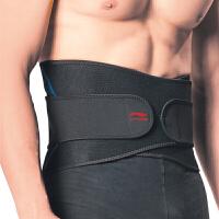 李宁LI-NING 单只装男女篮球羽毛球健身训练加压透气运动护腰带束腰带收腹带护具AQAH166-1 L号