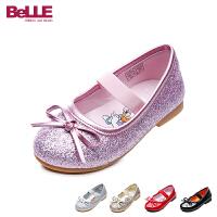 【159元2双】百丽Belle童鞋18新款儿童皮鞋时尚卡通联名鞋优雅女童时装鞋校园学生鞋(5-10岁可选) DE070