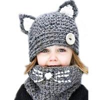 儿童帽子女宝宝帽秋冬女童围脖护耳帽冬季防风保暖套头毛线帽女潮 均码