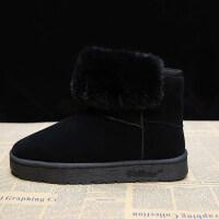 雪地靴女短筒韩版百搭学生2018冬季新款加绒保暖棉鞋防滑厚底短靴
